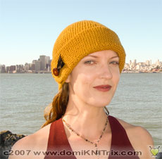This simple hat is a stashbuster that knits up in just a few hours.