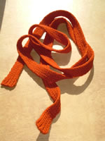 orange felt scelt scarf/belt