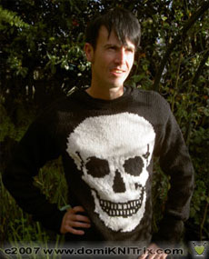 the Big Bad Wolf pullover with Skull