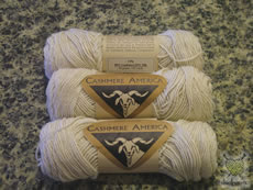the resultant cashmere yarn